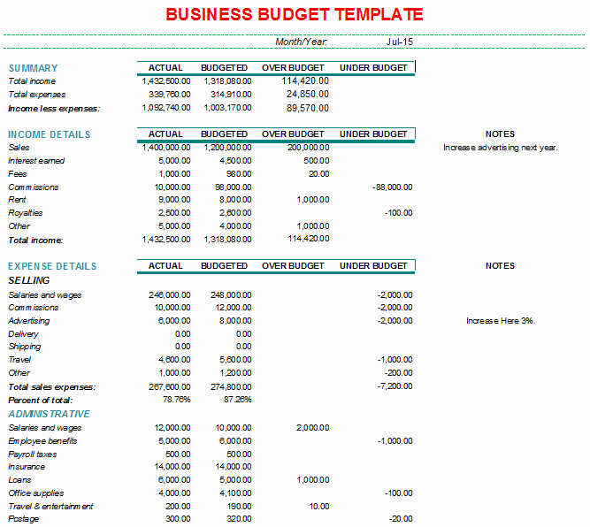 Monthly Business Expense Template Elegant Monthly Business Bud format with Charts