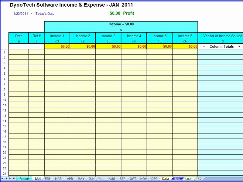 Monthly Business Expense Template Fresh Simple Expense organizer for Small Business Profit Loss