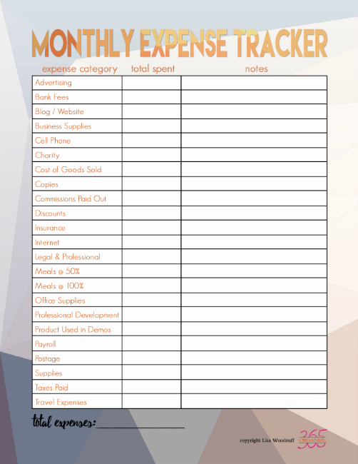 Monthly Business Expense Template Lovely In E and Expense Tracking Printables the Happy