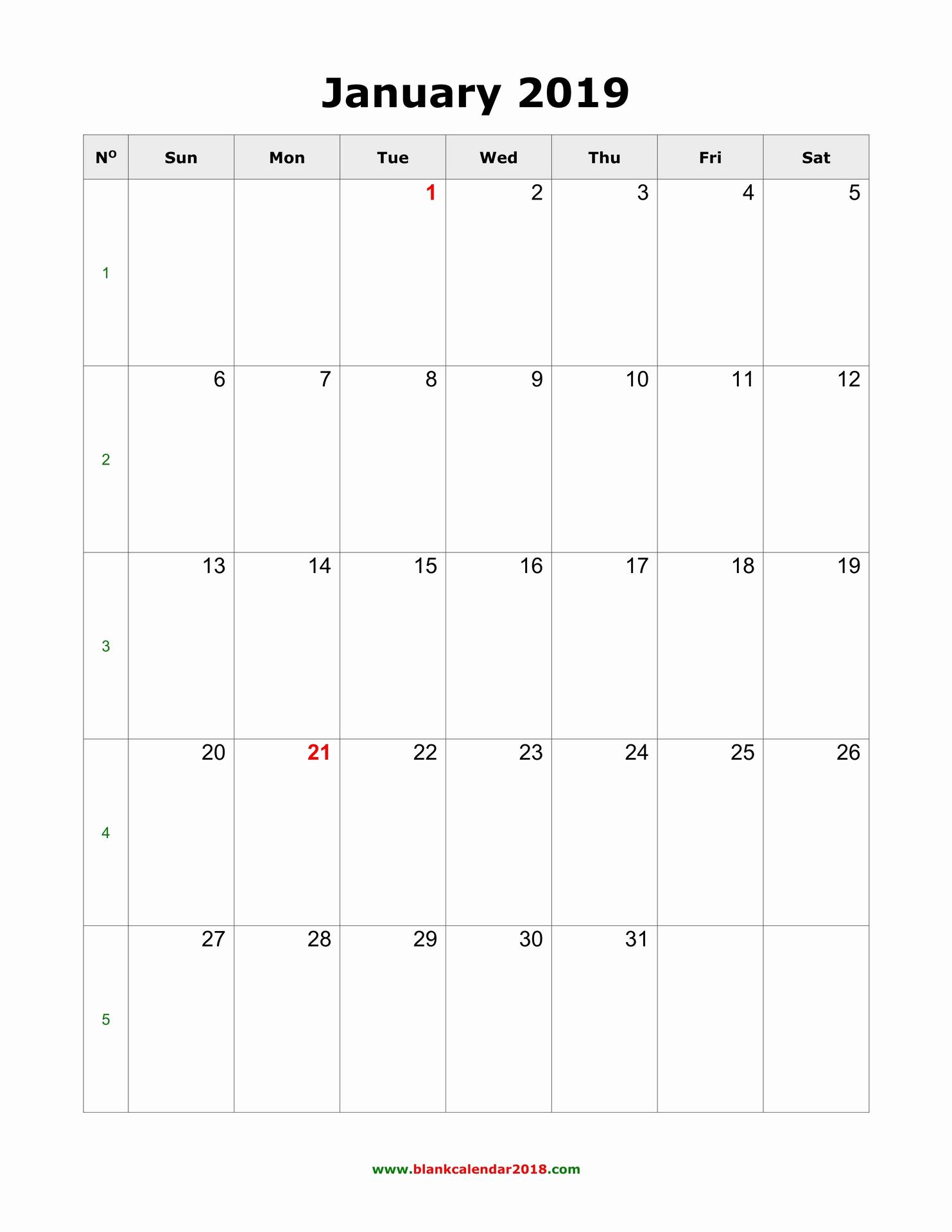 Monthly Calendar Template 2019 Best Of Blank Calendar 2019