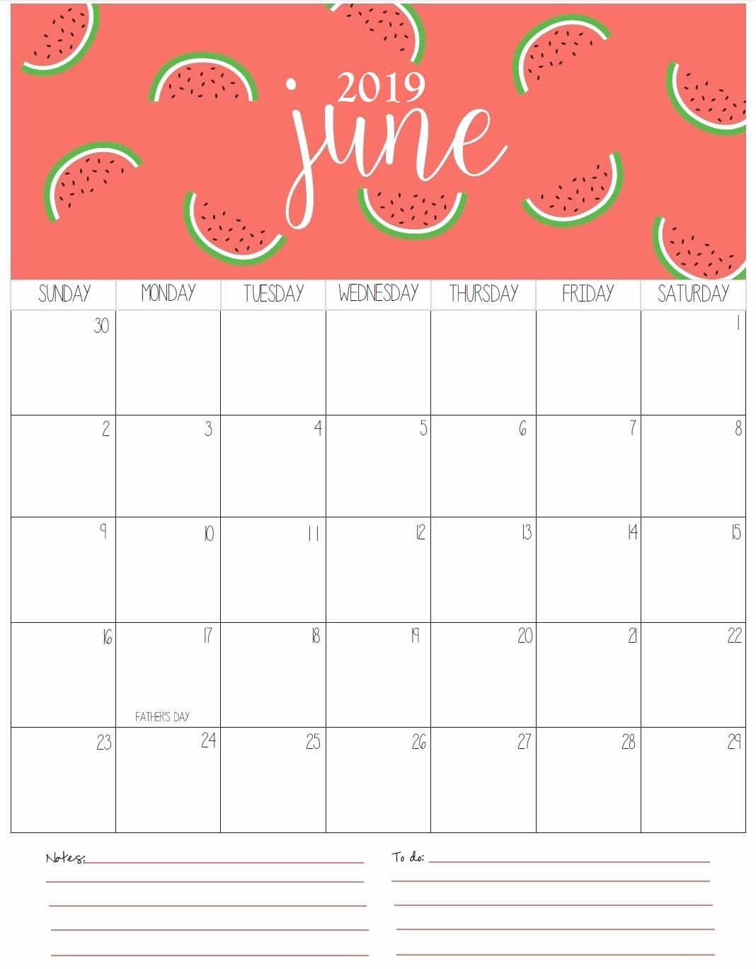Monthly Calendar Template 2019 Elegant Monthly Printable Calendar 2019