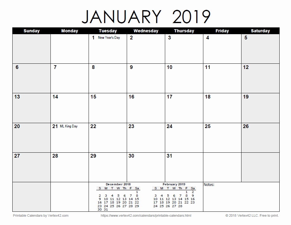 Monthly Calendar Template 2019 Fresh Free Printable Calendar Printable Monthly Calendars