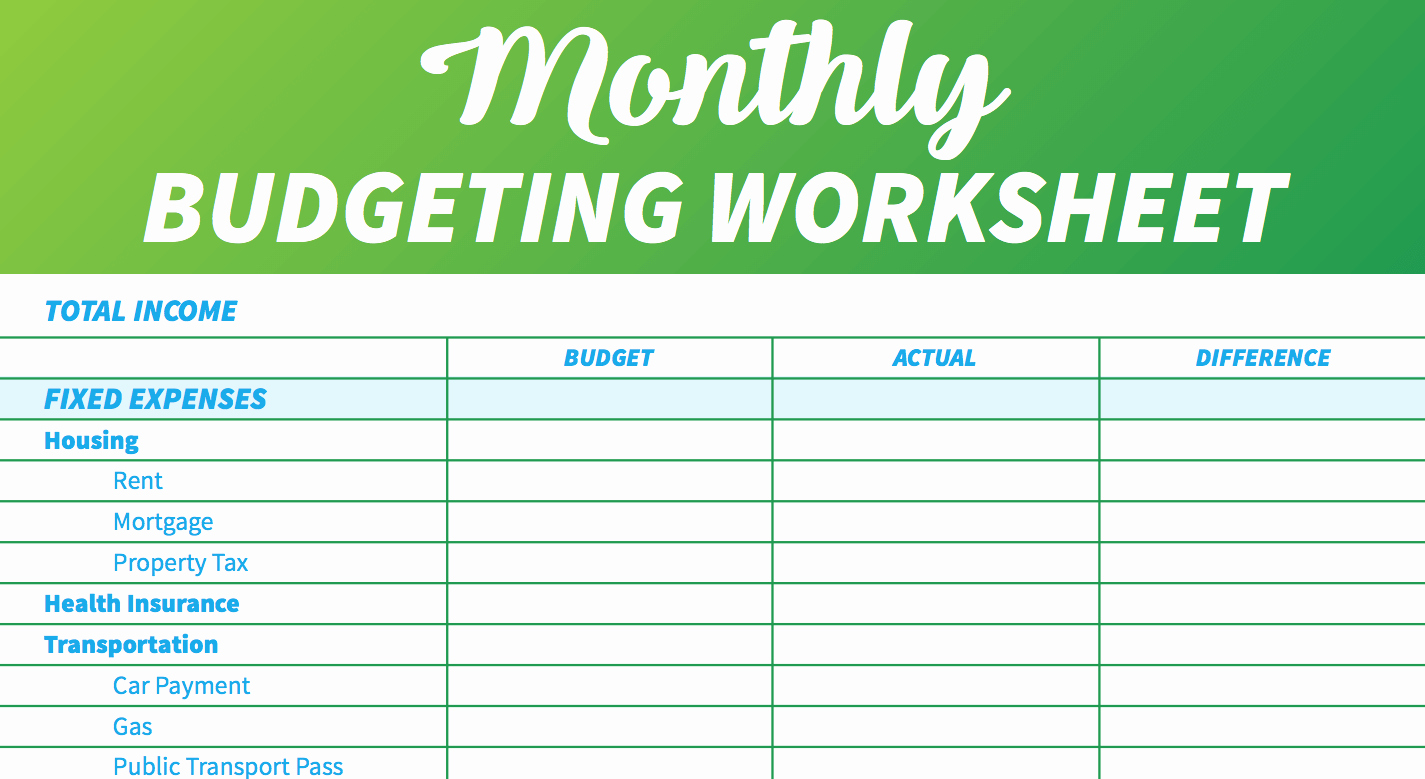 Monthly Household Budget Template Inspirational 14 Easy to Use Free Bud Templates