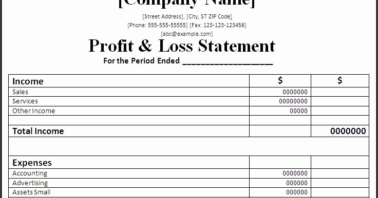 Monthly Profit and Loss Template Luxury Professional Freelance Content Profit and Loss Statements