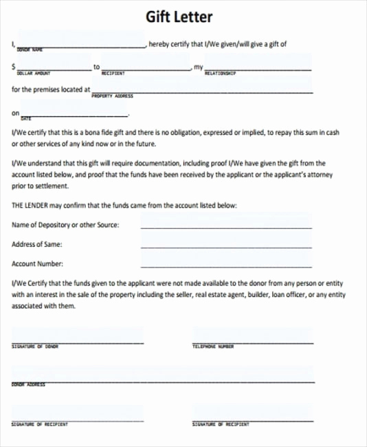 Mortgage Gift Letter Template Best Of Mortgage Gift Letter Template the Reasons why We Love
