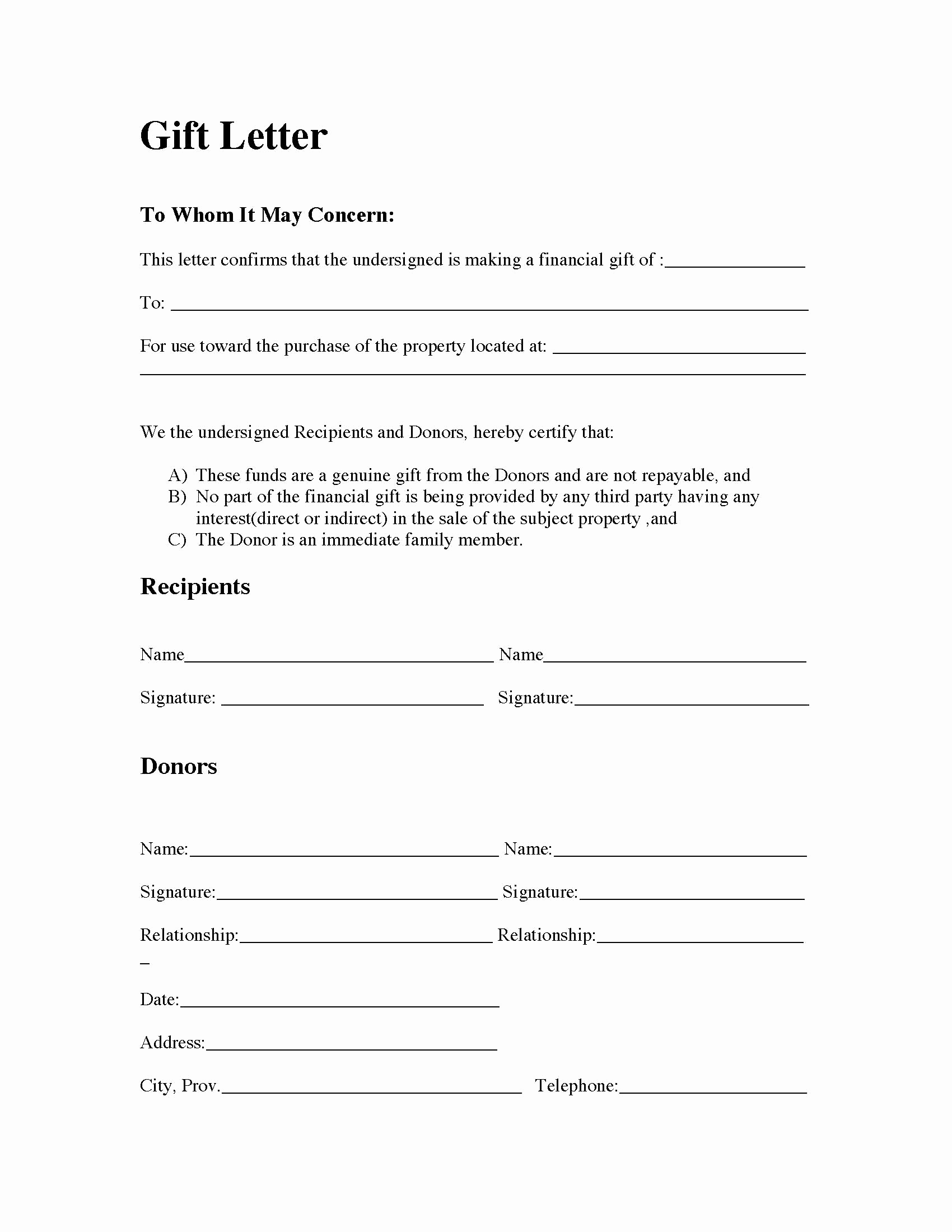 Mortgage Gift Letter Template Fresh Gift Letter for Mortgage Articleezinedirectory – soohongp
