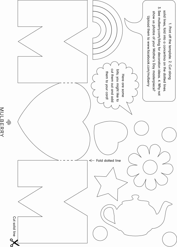 Mothers Day Card Template Awesome Mothers Day Card Template Print Print Print