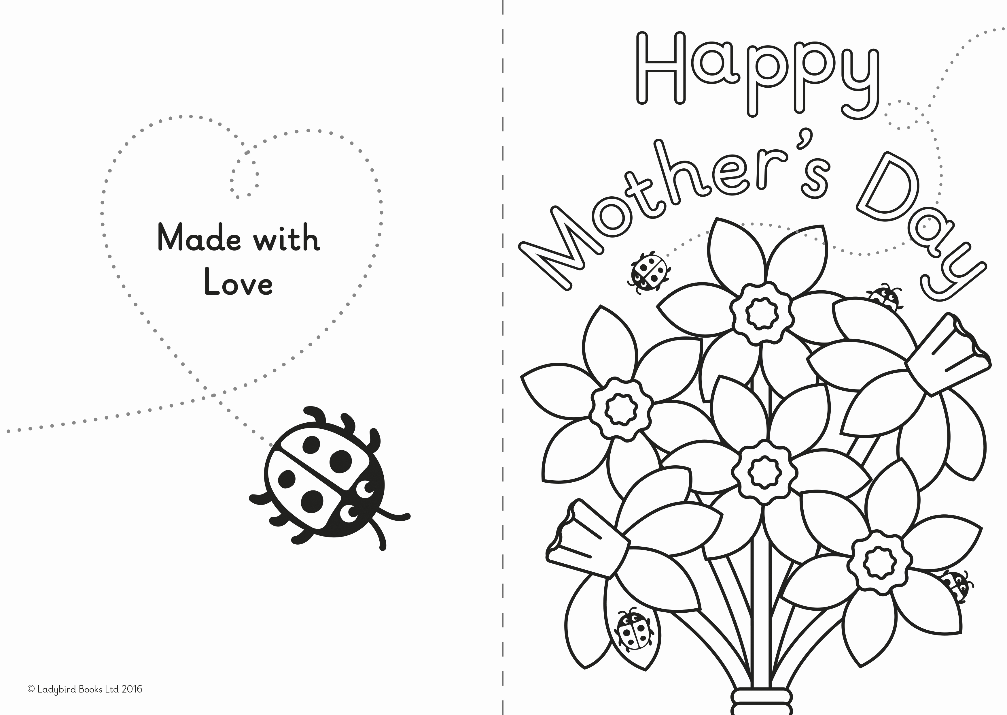 Mothers Day Card Template Beautiful A Diy Mother's Day Card for Little Ones – Ladybird Blog