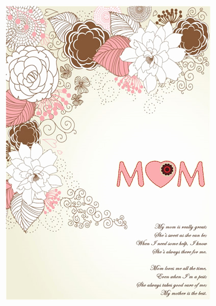 Mothers Day Card Template Beautiful Mothers Day Card Templates