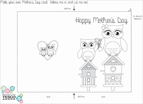 Mothers Day Card Template Beautiful My Owl Barn 2015 04 26
