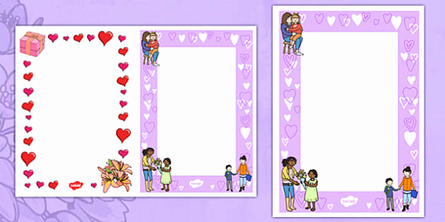 Mothers Day Card Template Best Of Ks1 Mother S Day Card Insert Templates