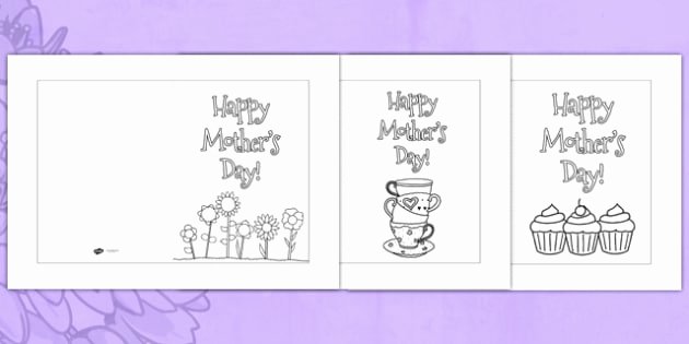 Mothers Day Card Template Fresh Mother S Day Card Templates Coloring Usa Design Mother