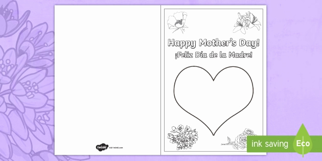 Mothers Day Card Template New Mother S Day Fingerprint Gift Card Template English
