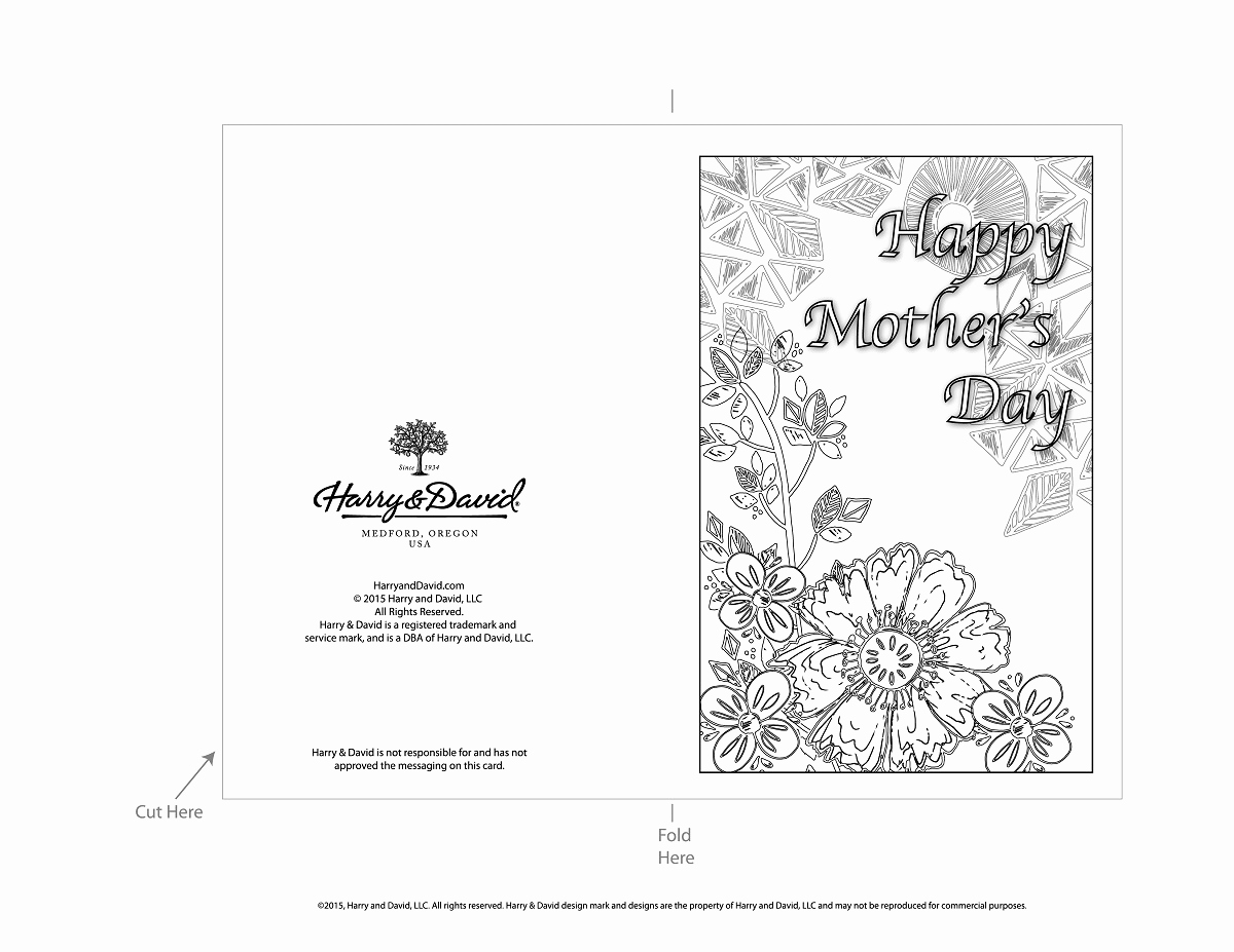 Mothers Day Card Template Unique Printable Mother S Day Cards