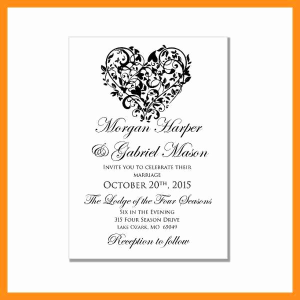 Ms Word Invitation Template Beautiful 12 13 Ms Word Templates Invitations