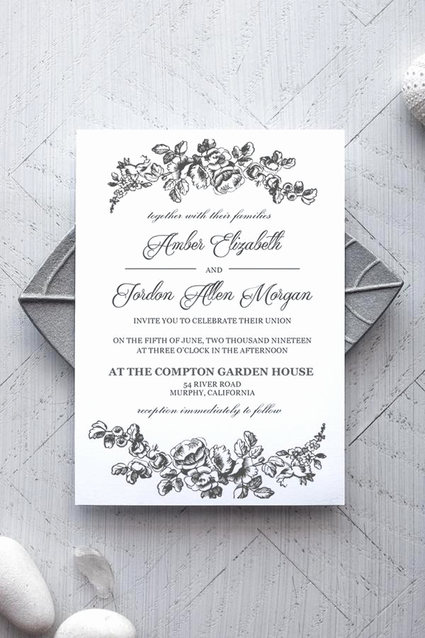 Ms Word Invitation Template Inspirational Printable Wedding Invitation Template Rustic Alchemie