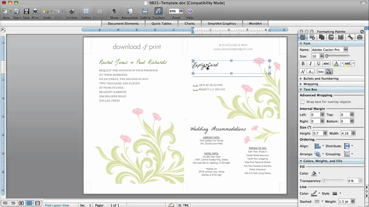 Ms Word Invitation Template Lovely How to Make Wedding Invitations In Microsoft Word