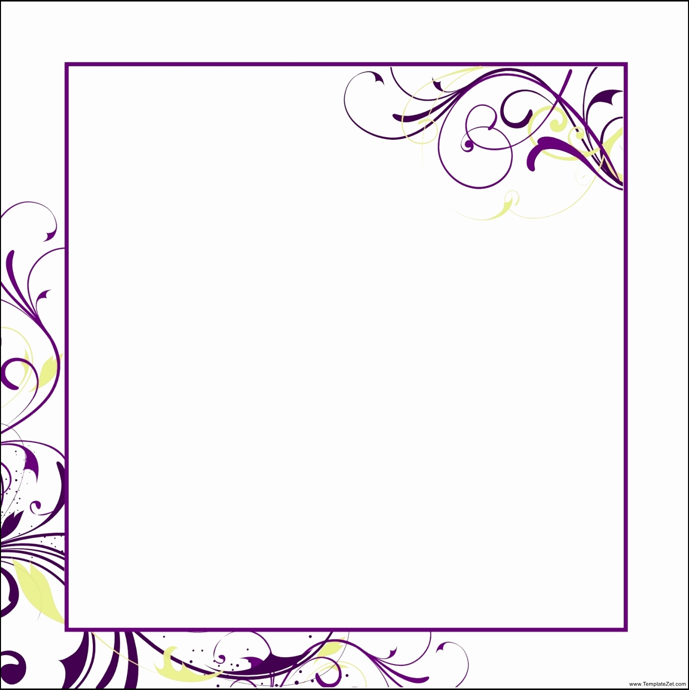Ms Word Invitation Templates Awesome Blank Invitation Templates for Microsoft Word