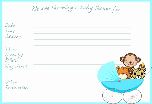 Ms Word Invitation Templates Best Of Baby Shower Invitation Templates Word