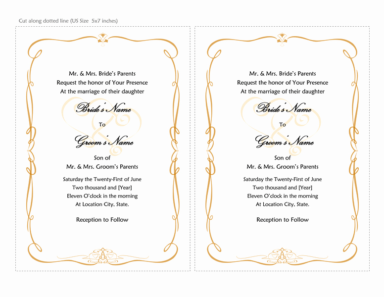 Ms Word Invitation Templates Best Of Microsoft Word 2013 Wedding Invitation Templates