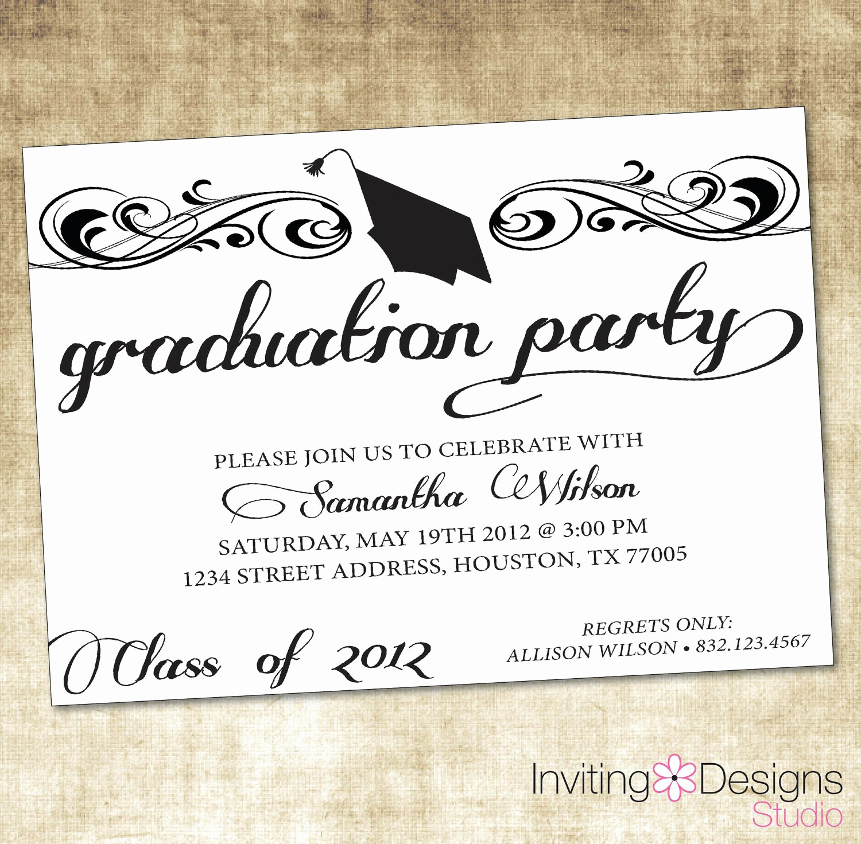 Ms Word Invitation Templates Luxury Free Graduation Invitation Templates Free Graduation