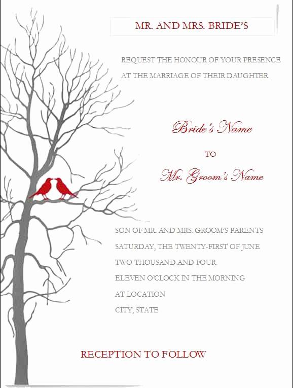 Ms Word Invitation Templates Luxury Free Wedding Invitation Templates for Microsoft Word