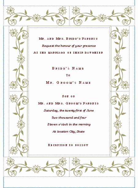 Ms Word Invitation Templates Luxury Hohmannnt Unique Wedding