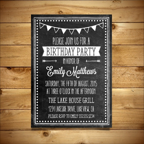 Ms Word Invitation Templates Unique 18 Ms Word format Birthday Templates Free Download