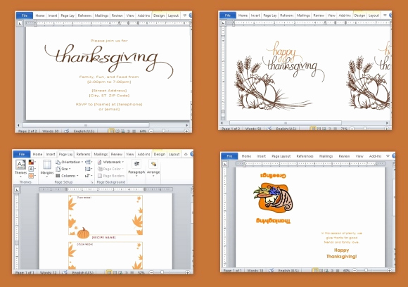 Ms Word Invitation Templates Unique Best Thanksgiving Templates for Microsoft Word
