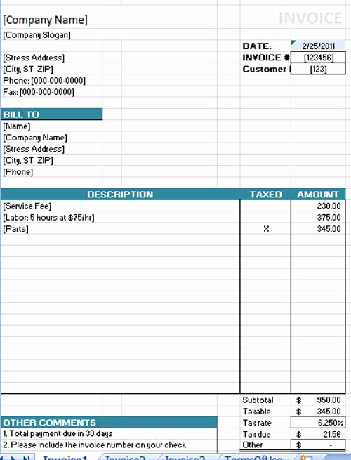Ms Word Invoice Template Beautiful Free Invoice Template Microsoft Word Templates