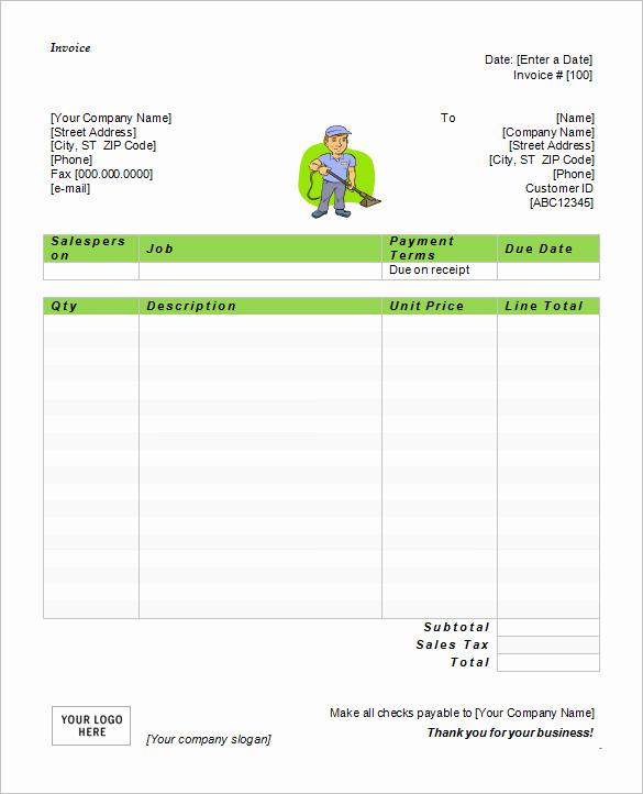 Ms Word Invoice Template Elegant 57 Microsoft Invoice Templates Pdf Doc Excel