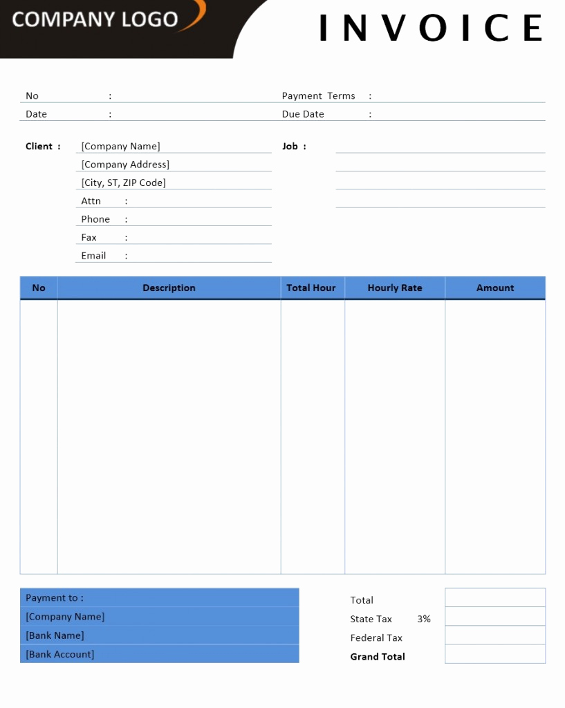 Ms Word Invoice Template Luxury Microsoft Fice Billing Invoice Templates Free