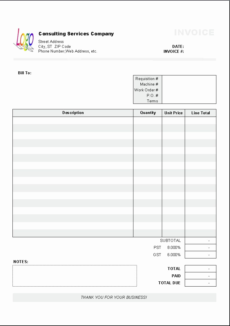 Ms Word Invoice Template New Excel Based Consulting Invoice Template Excel Invoice