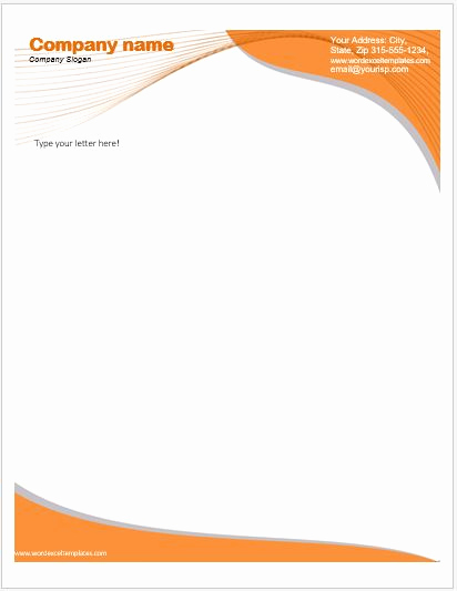 Ms Word Letter Templates Elegant Business Letterhead Templates for Ms Word