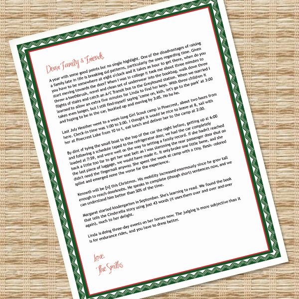 Ms Word Letter Templates Elegant Printable Christmas Letter Paper – Microsoft Word Template