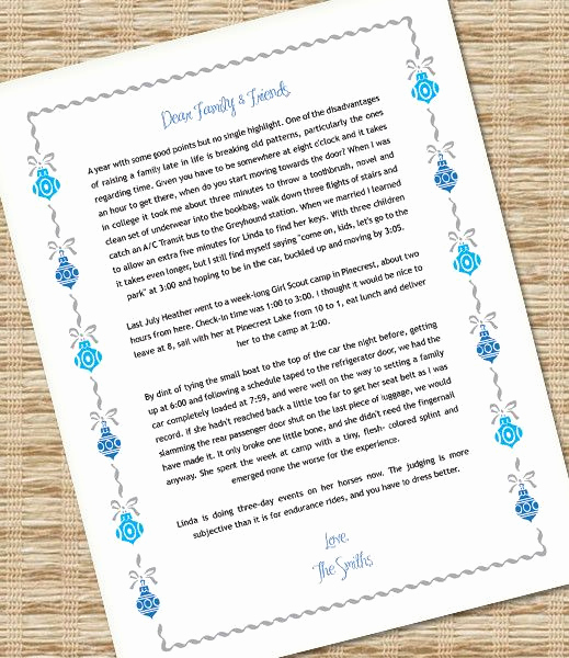 Ms Word Letter Templates Fresh Microsoft Word Christmas Letter Template with ornaments