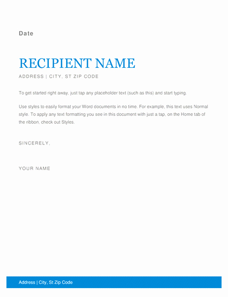 Ms Word Letter Templates Luxury Letters Fice