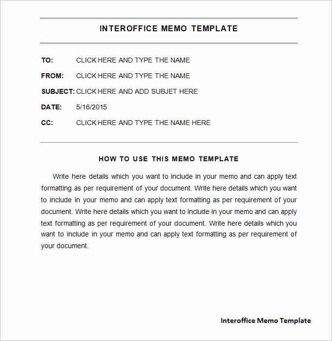 Ms Word Memo Templates Awesome Interoffice Memo Templates Word Templates Docs