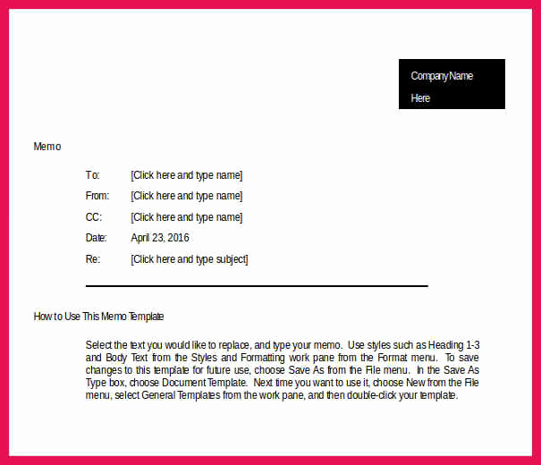 Ms Word Memo Templates Awesome Microsoft Word Memo Template
