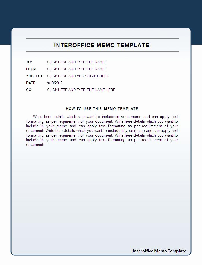 Ms Word Memo Templates Inspirational Interoffice Memo Template