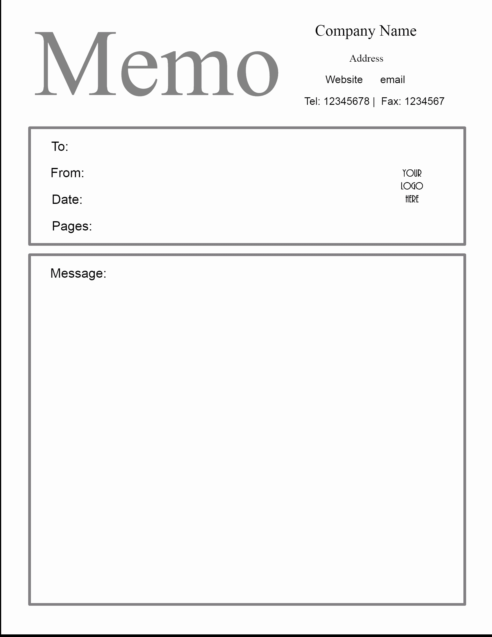 Ms Word Memo Templates Lovely Free Microsoft Word Memo Template