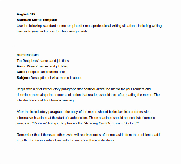 Ms Word Memo Templates Lovely Internal Memo Template 23 Word Pdf Google Docs