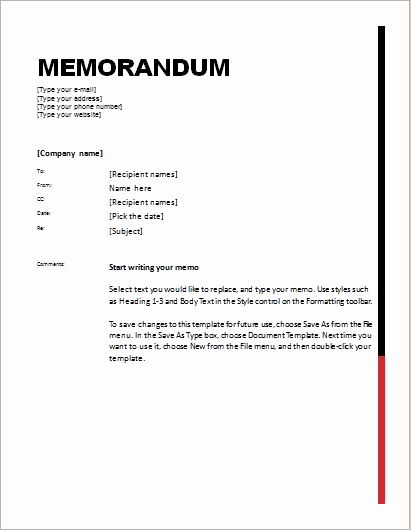 Ms Word Memo Templates Luxury 24 Free Editable Memo Templates for Ms Word