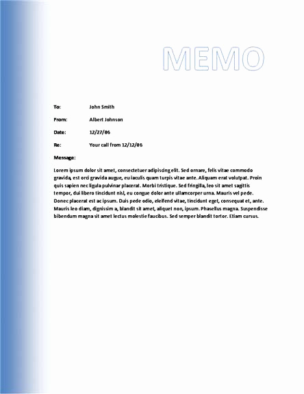 Ms Word Memo Templates Luxury Memo Template Category Page 1 Efoza