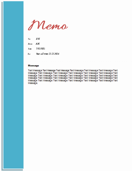 Ms Word Memo Templates Unique Memo Template Templates for Microsoft Word