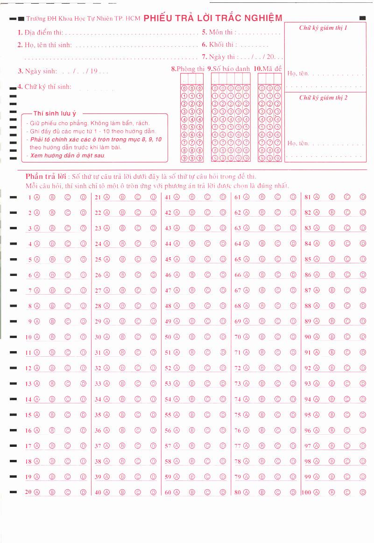 Multiple Choice Answer Sheet Lovely Opencv Multiple Choice Test Mark Reader where to Start