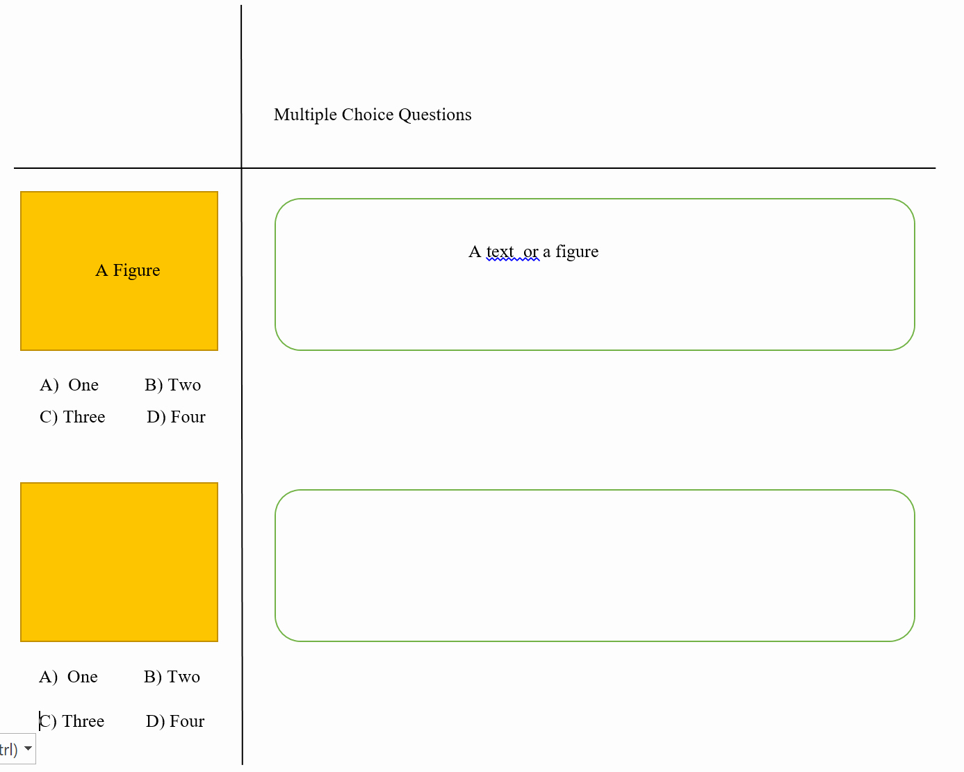 Multiple Choice Test Template Elegant Graphics Creating A Special Template for Multiple Choice