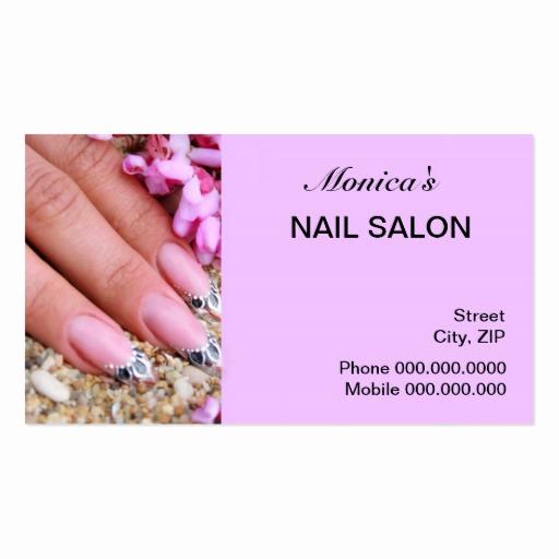 Nail Salon Business Cards Beautiful Nail Salon Business Card
