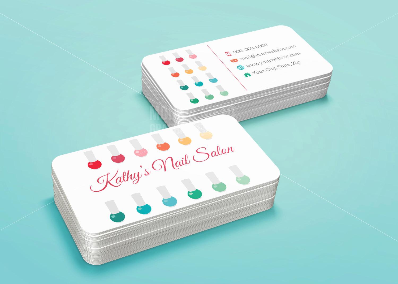 Nail Salon Business Cards Beautiful Nail Salon Business Card Template Stylish Beauty Business