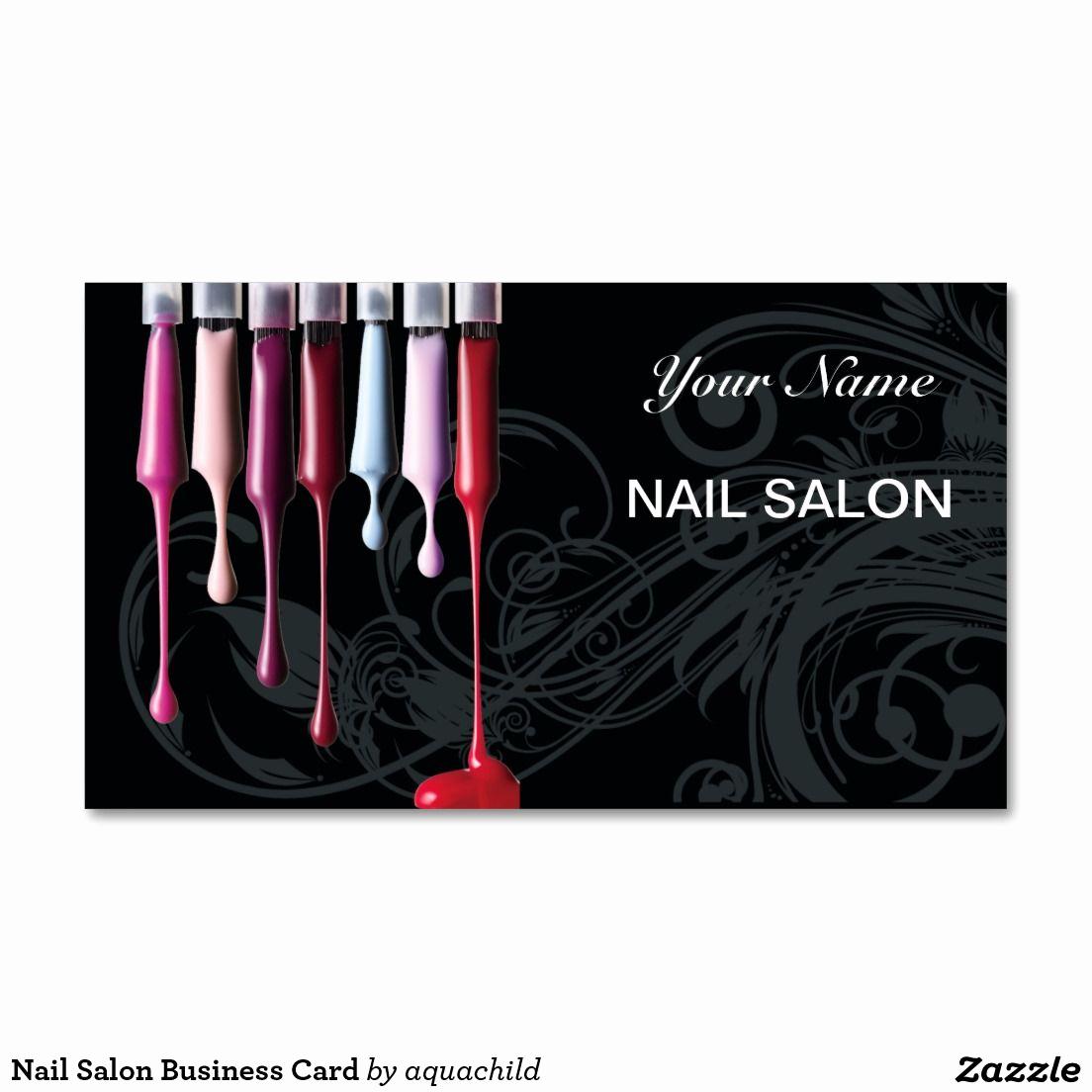 Nail Salon Business Cards Beautiful Nail Salon Business Card Zazzle